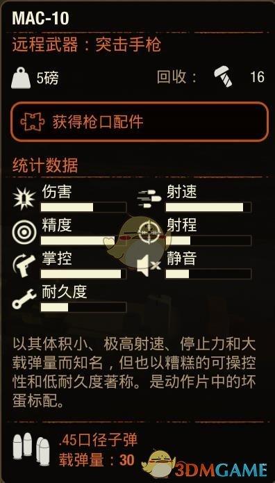 《腐烂国度2》MAC10冲锋枪属性分享
